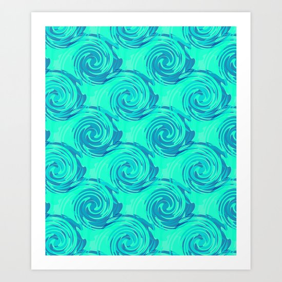 Abstract pattern in turquoise and blue tones. Art Print