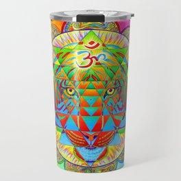 Inner Strength Psychedelic Tiger Sri Yantra Mandala Travel Mug