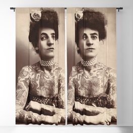 Maud Stevens Wagner Original 1907 Tattooed Lady Blackout Curtain