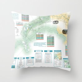 BLM - Detailed Rogue River Overview Map (2018) Throw Pillow