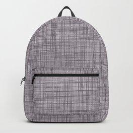 Cross Weave Line Pattern Dark Lavender Purple Backpack