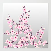 cherry blossoms Canvas Prints featuring Cherry Blossoms by Nina Baydur