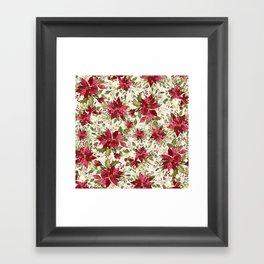 POINSETTIA - FLOWER OF THE HOLY NIGHT Framed Art Print