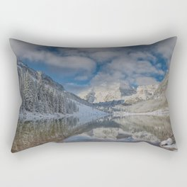 Maroon Bells Reflection In The Maroon Lake With Fresh Snow Aspen Colorado Usa for #society6 Rectangular Pillow
