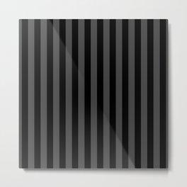 Large Two Tone Black Cabana Tent Stripe Metal Print