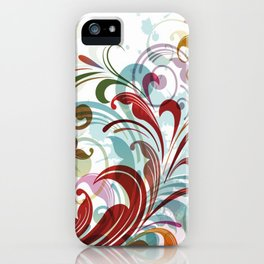 Floral Art Design iPhone Case