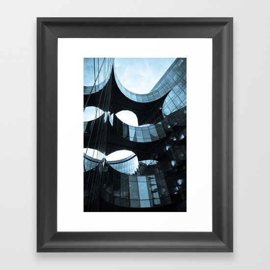 Southbank Building abstract Framed Art Print