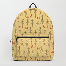 Fox hiding in the forest Backpack
