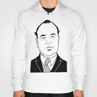 scarface Hoodies featuring Al 'Scarface' Capone by Danny Abbott