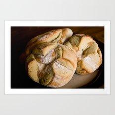 Pitahaya Bread Art Print