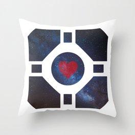 Portal Companion Cube Throw Pillow
