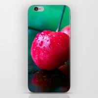 cherry iPhone & iPod Skins featuring Cherry by Lindsay Faye