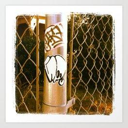Gwap Graffiti Sticker Art Print