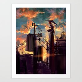 GINTAMA-lonely fighter Art Print