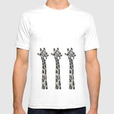 Funny Giraffe Mens Fitted Tee White MEDIUM
