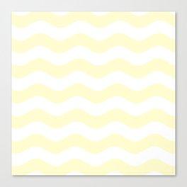 Wavy Stripes (Cream/White) Canvas Print