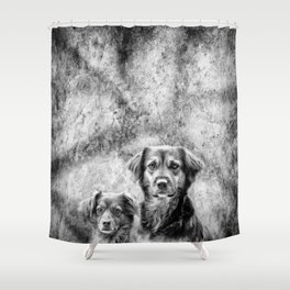 Couple of Dogs Shower Curtain