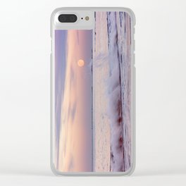 Reaching for the moon Clear iPhone Case
