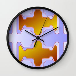 Copper plates pattern Wall Clock