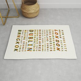 Travel World Cities Rug