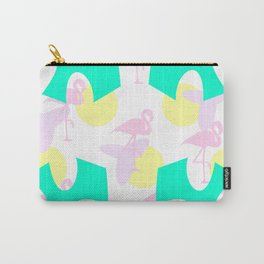Flamingo vibrant motif Carry-All Pouch