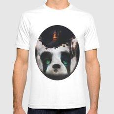 Dog ( Capalau) MEDIUM White Mens Fitted Tee