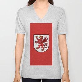 flag of zachodniopomorskie or west pomerania Unisex V-Neck