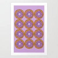 doughnut Art Prints featuring doughnut by AWOwens