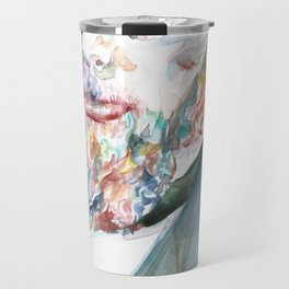 FYODOR DOSTOYEVSKY - watercolor portrait.4 Travel Mug