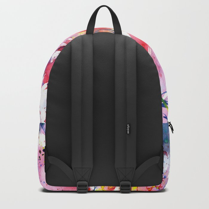 Floral vibes || watercolor Backpack