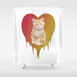 Cat in your heart Shower Curtain