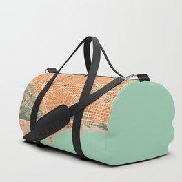 Barcelona city map orange Duffle Bag