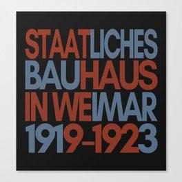 Bauhaus Poster Canvas Print