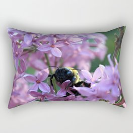 Busy Bee in Lilac Art Photography Rectangular Pillow