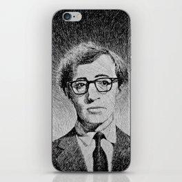 Woody Allen portrait iPhone Skin