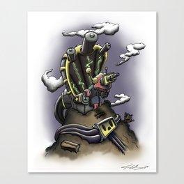 Power Throne Canvas Print