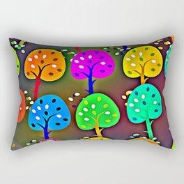 Colourful Forest Rectangular Pillow