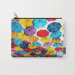 Watercolor Hanging Colorful Umbrellas Carry-All Pouch