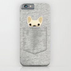 Pocket French Bulldog - Cream iPhone 6s Slim Case