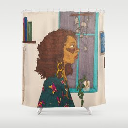 Night Prowler Shower Curtain