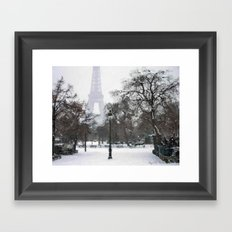 A walk in the snow Framed Art Print
