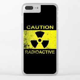 Caution Radioactive Sign Clear iPhone Case