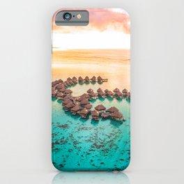 Bora bora Tahiti honeymoon beach resort vacation iPhone Case