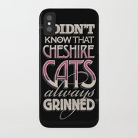 cheshire iPhone & iPod Cases featuring Cheshire Cats by Tom Davie
