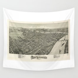 Aerial View of Parkersburg, West Virginia (1899) Wall Tapestry