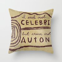 celebrity Throw Pillows featuring Celebrity & Autonomy by Josh LaFayette
