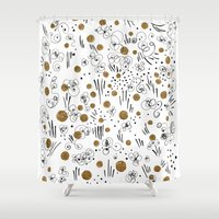 jazz Shower Curtains featuring Jazz by Dreamy Me
