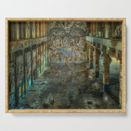 Apocalyptic Vision of the Sistine Chapel Rome 2020 Serving Tray