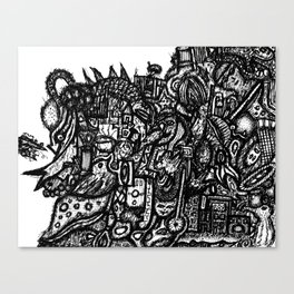 Shapes in Bull Canvas Print