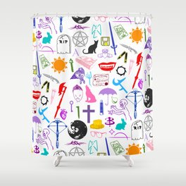 Buffy Symbology, Multi-color / Rainbow / PRIDE! Shower Curtain